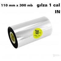 Taśma termotransferowa żywiczna do tekstyliów 110mm x 300mb IN