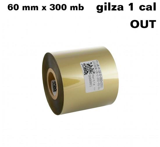 Taśma termotransferowa woskowo-żywiczna złota 60x300 OUT