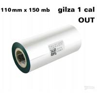 Zielona taśma termotransferowa woskowa  110x150 OUT