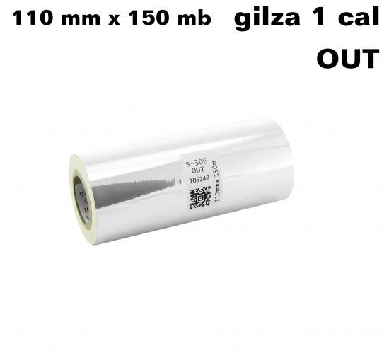 Transparentna taśma termotransferowa UV 110x150 OUT