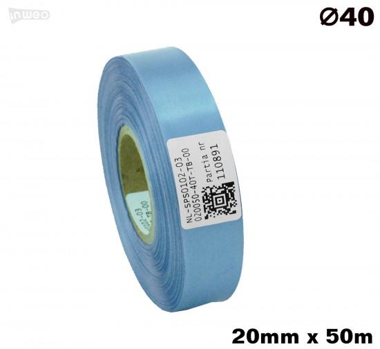 Błękitna taśma satynowa premium 20mmx50mb