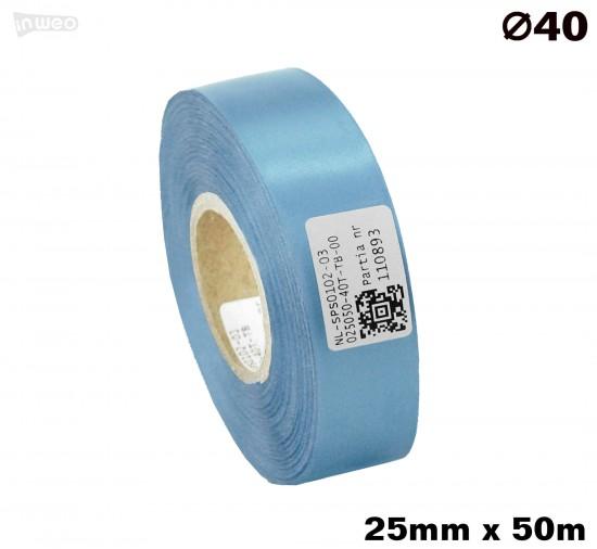 Błękitna taśma satynowa premium 25mmx50mb