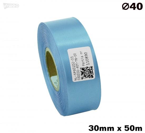 Błękitna taśma satynowa premium 30mmx50mb
