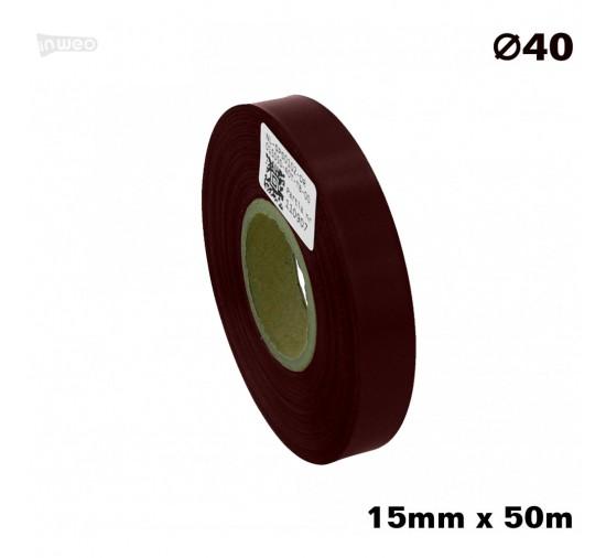 Bordowa taśma satynowa premium 15mm x 50mb