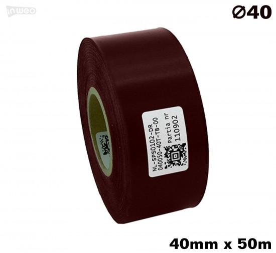 Bordowa taśma satynowa premium 40mm x 50mb