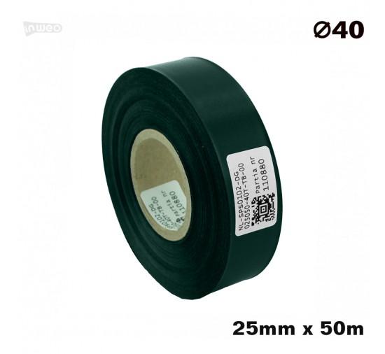 Ciemnozielona taśma satynowa premium 25mmx50mb