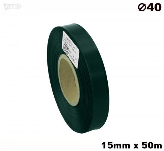 Ciemnozielona taśma satynowa premium 15mmx50mb
