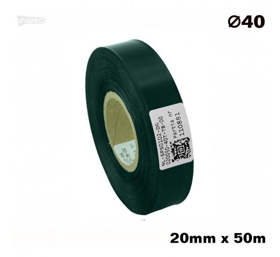 Ciemnozielona taśma satynowa premium 20mmx50mb