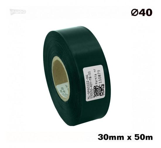 Ciemnozielona taśma satynowa premium 30mmx50mb