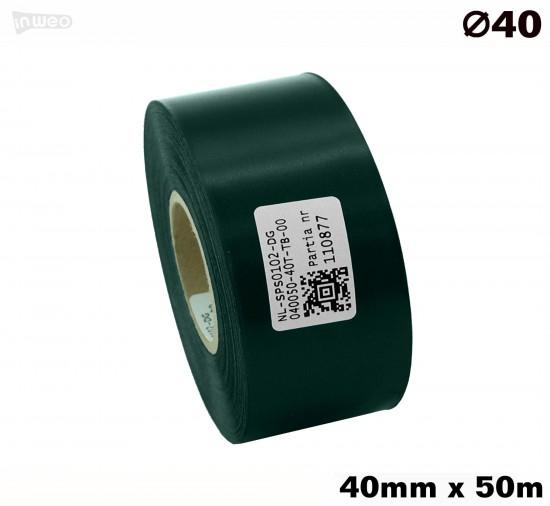 Ciemnozielona taśma satynowa premium 40mmx50mb