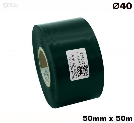 Ciemnozielona taśma satynowa premium 50mmx50mb