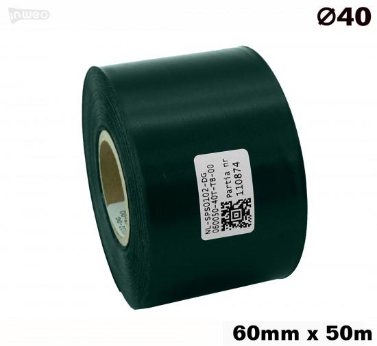 Ciemnozielona taśma satynowa premium 60mmx50mb