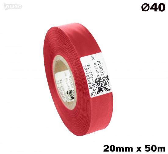 Czerwona taśma satynowa premium 20mm x 50mb