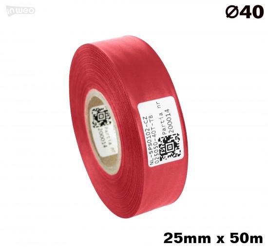 Czerwona taśma satynowa premium 25mm x 50mb