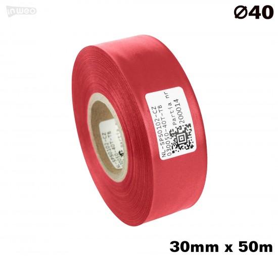 Czerwona taśma satynowa premium 30mm x 50mb
