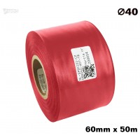 Czerwona taśma satynowa premium 60mm x 50mb