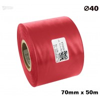 Czerwona taśma satynowa premium 70mm x 50mb