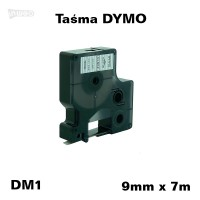 Taśma D1 zamiennik do DYMO 9mm/7m transparentna czarny nadruk 40910