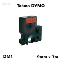 Taśma D1 zamiennik do DYMO 9mm/7m czerwona czarny nadruk 40917