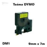 Taśma D1 zamiennik do DYMO 9mm/7m żółta czarny nadruk 40918