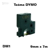 Taśma D1 zamiennik do DYMO 9mm/7m czarna złoty nadruk 40924