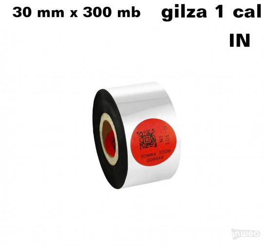 Taśma termotransferowa żywiczna standard 30mm x 300mb IN