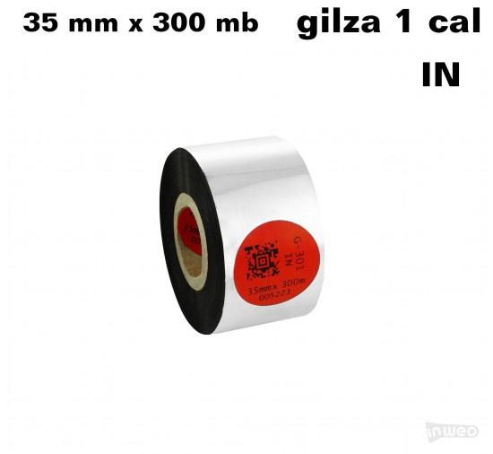 Taśma termotransferowa żywiczna standard 35mm x 300mb IN