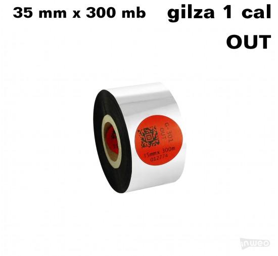 Taśma termotransferowa żywiczna standard 35mm x 300mb OUT