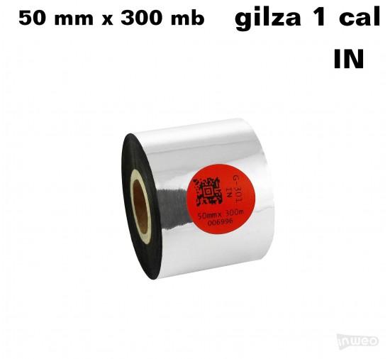 Taśma termotransferowa żywiczna standard 50mm x 300mb IN