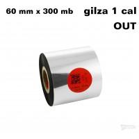Taśma termotransferowa żywiczna standard 60mm x 300mb OUT