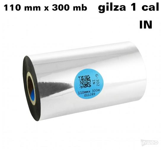 Taśma termotransferowa żywiczna premium  110mm x 300mb IN