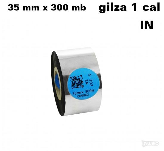 Taśma termotransferowa żywiczna premium  35mm x 300mb IN