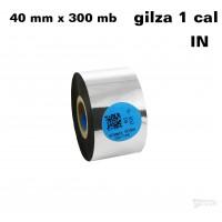Taśma termotransferowa żywiczna premium 40mm x 300mb IN
