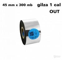 Taśma termotransferowa żywiczna premium  45mm x 300mb OUT
