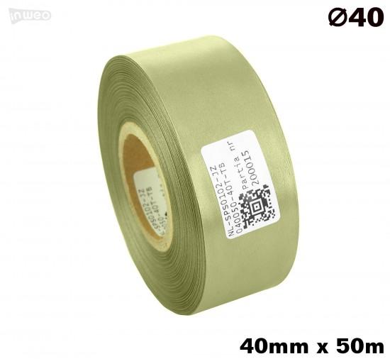 Jasnozielona taśma satynowa premium 40mmx50mb