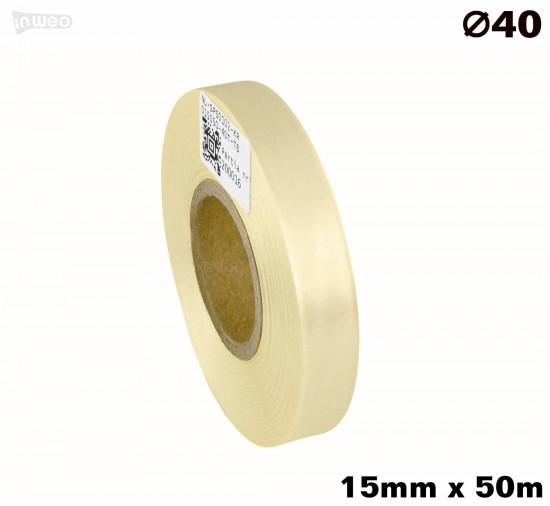 Kremowa taśma satynowa premium 15mm x 50mb