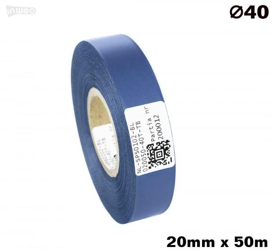 Niebieska taśma satynowa premium 20mm x 50mb