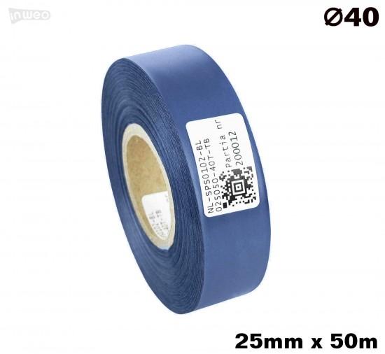 Niebieska taśma satynowa premium 25mm x 50mb