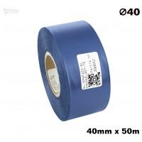 Niebieska taśma satynowa premium 40mm x 50mb