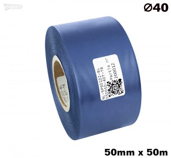 Niebieska taśma satynowa premium 50mm x 50mb