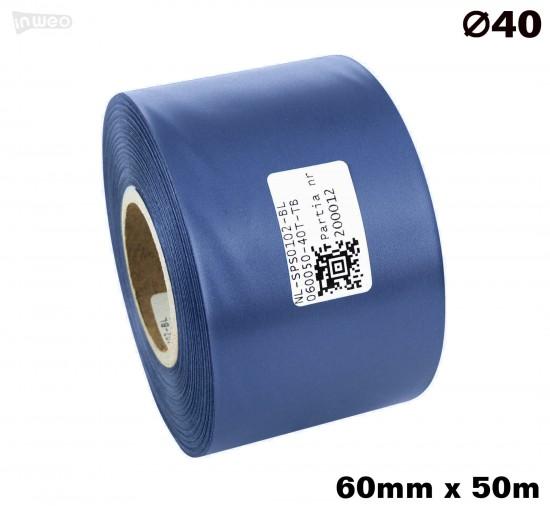 Niebieska taśma satynowa premium 60mm x 50mb