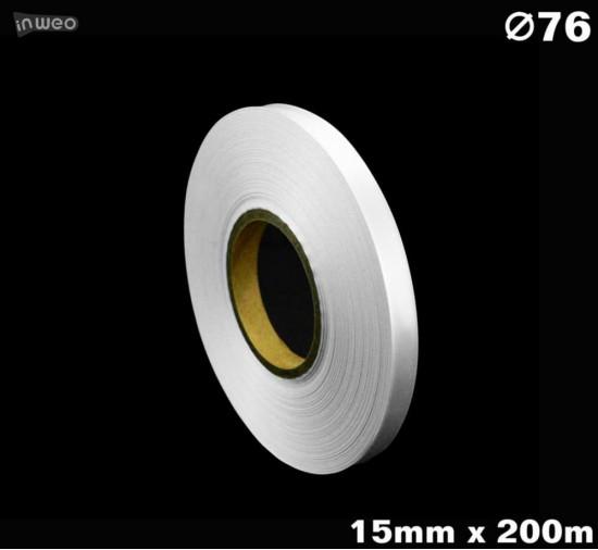 Niestrzępiąca biała taśma satynowa Premium 15mm x 200mb