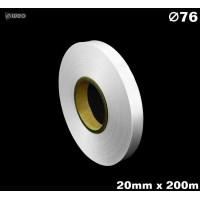 Niestrzępiąca biała taśma satynowa Premium 20mm x 200mb