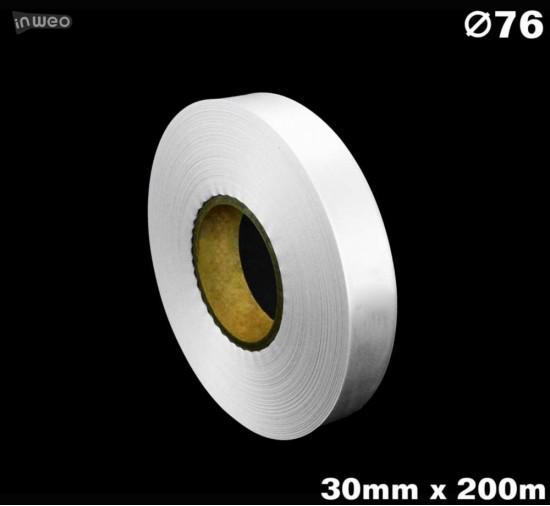 Niestrzępiąca biała taśma satynowa Premium 30mm x 200mb