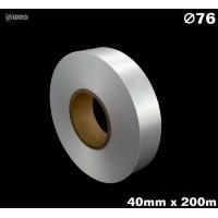 Niestrzępiąca biała taśma satynowa Premium 40mm x 200mb