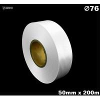 Niestrzępiąca biała taśma satynowa Premium 50mm x 200mb