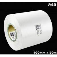 Biała taśma satynowa premium 100mm x 50mb