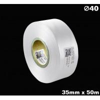 Biała taśma satynowa premium 35mm x 50mb
