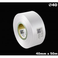 Biała taśma satynowa premium 40mm x 50mb
