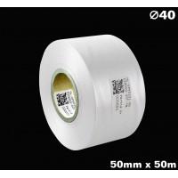 Biała taśma satynowa premium 50mm x 50mb